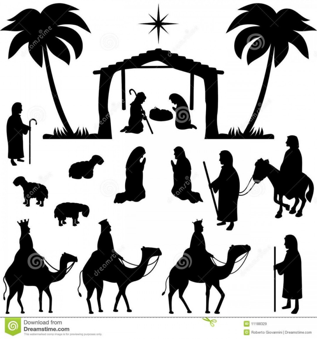 Free Nativity Scene Images Clip Art.