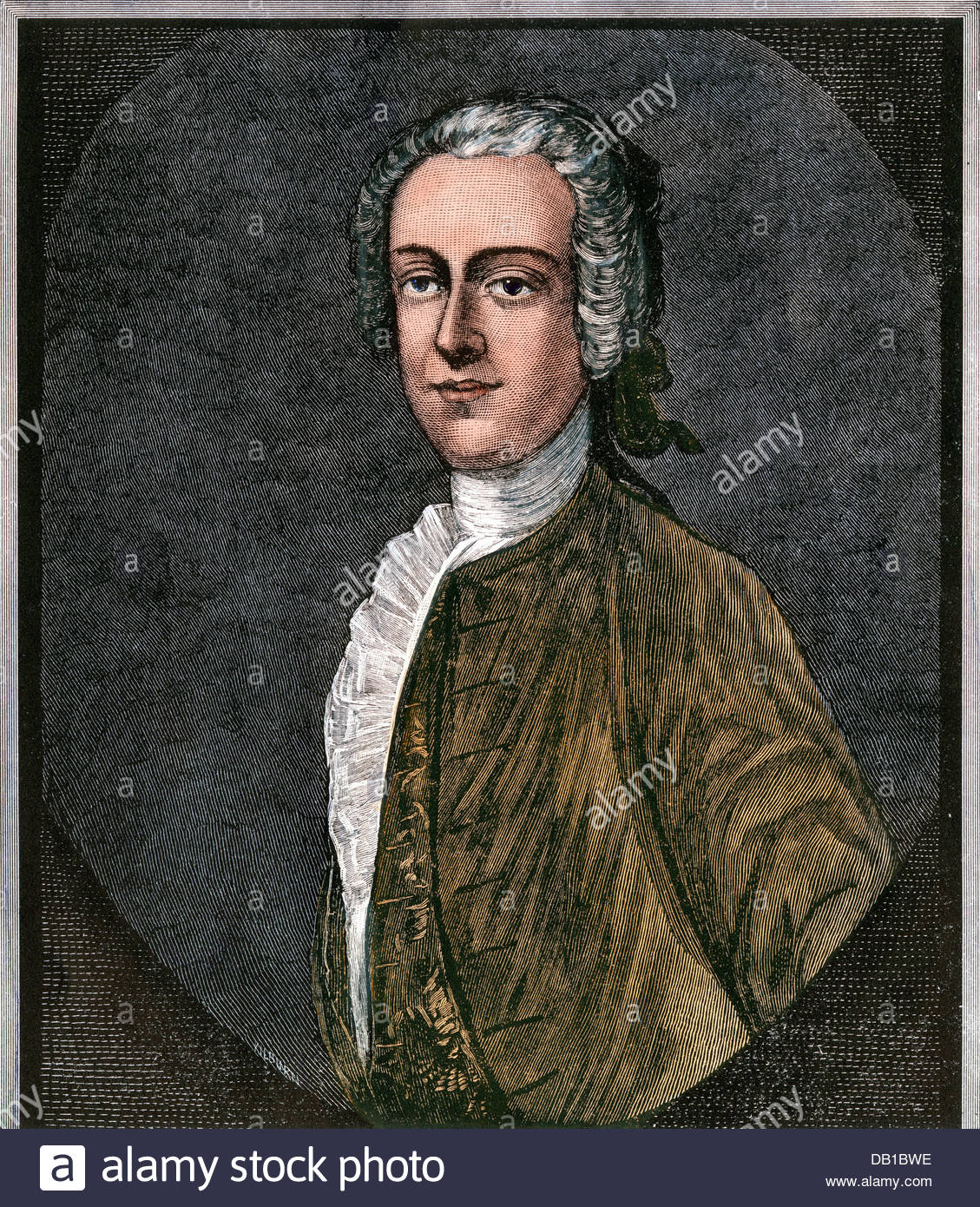 Thomas Hutchinson, Royal Governor of Massachusetts, 1770s Stock.
