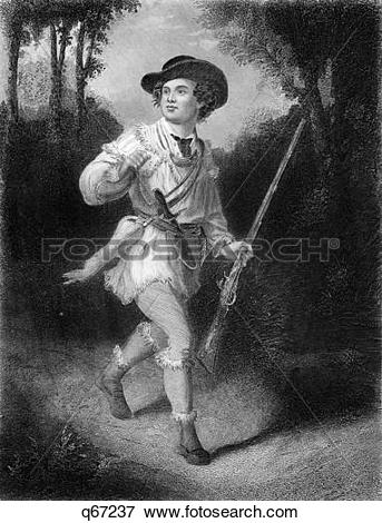 Picture of 1700S 1770S A Morgan'S Rifleman Wearing Fringed Hunting.