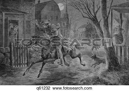 Stock Photo of 1770S April 19, 1775 Illustration Midnight Ride Of.