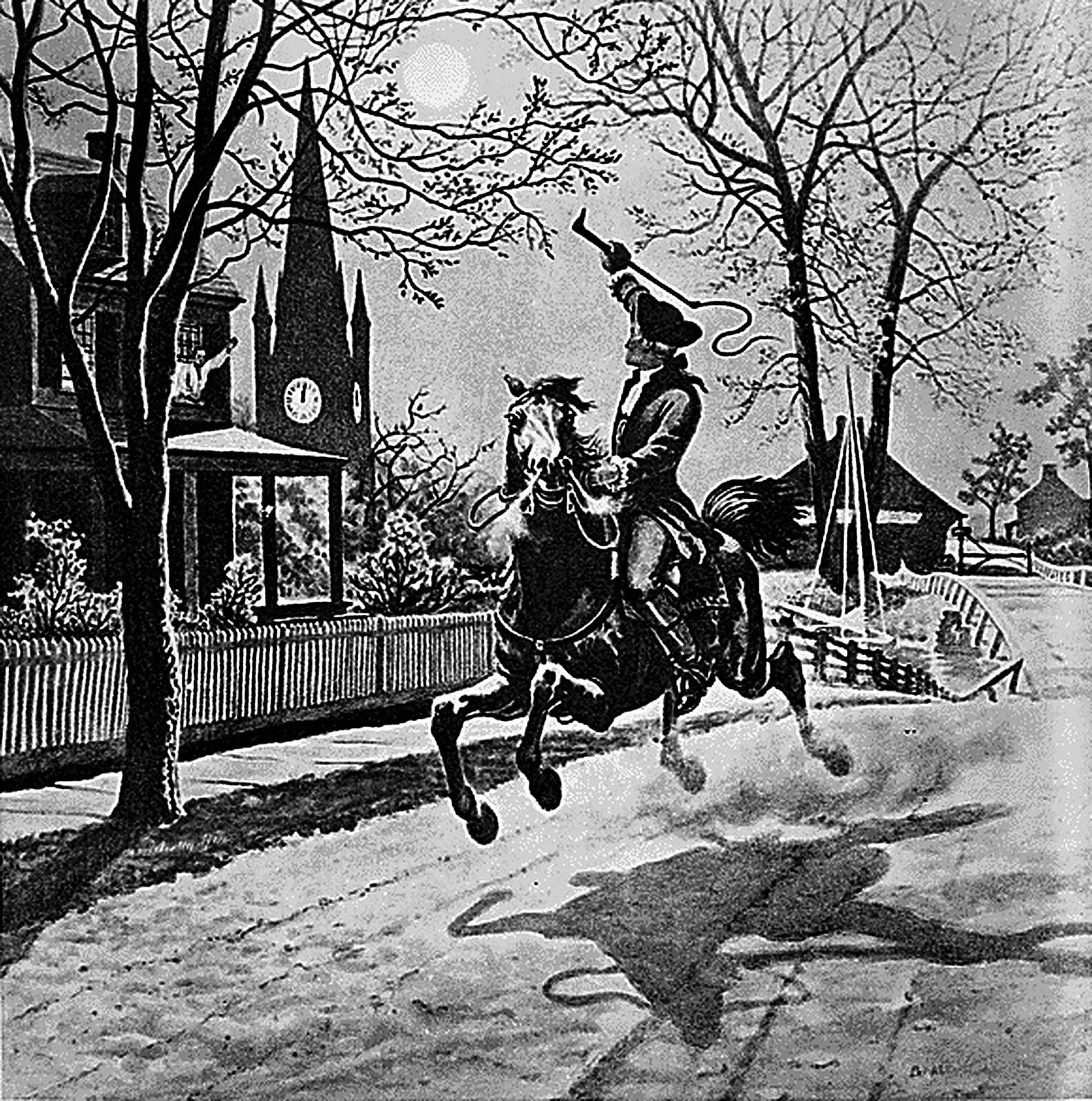 Paul Revere's Ride Public Domain Clip Art Photos and Images.