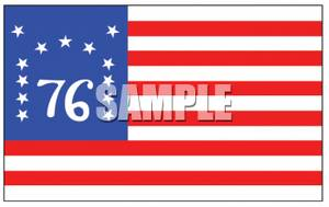 Clipart Picture of The 1776 American Flag.