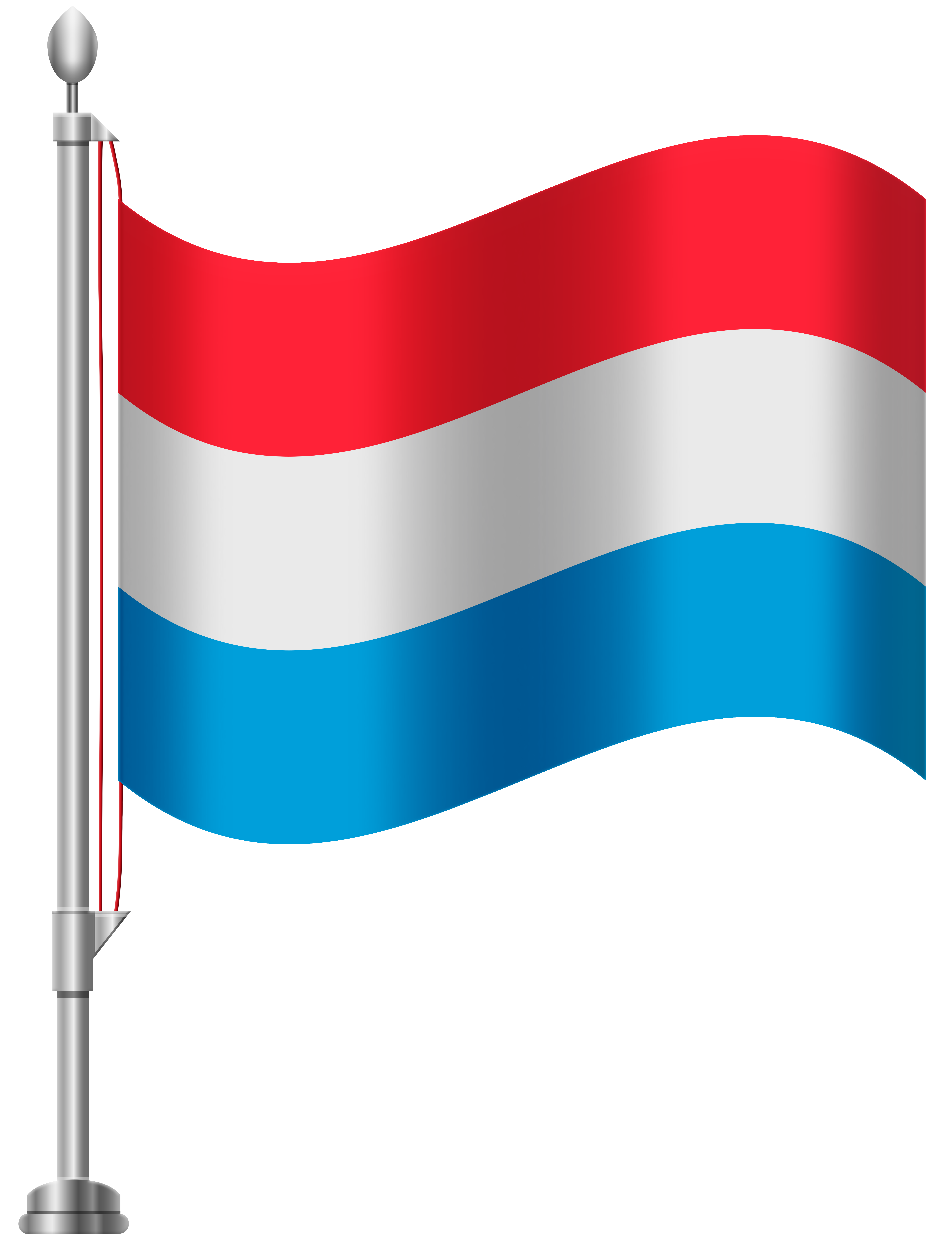 Luxembourg Flag PNG Clip Art.