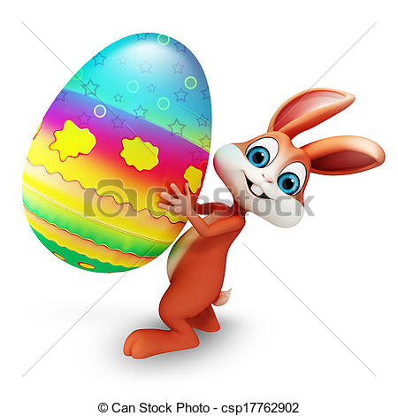 aster bunny with egg.