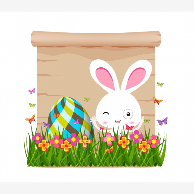 Easter Egg And Bunny Of Spring With Paper, Easter, Eggs.