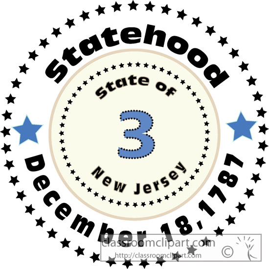New Jersey Outline Clipart.