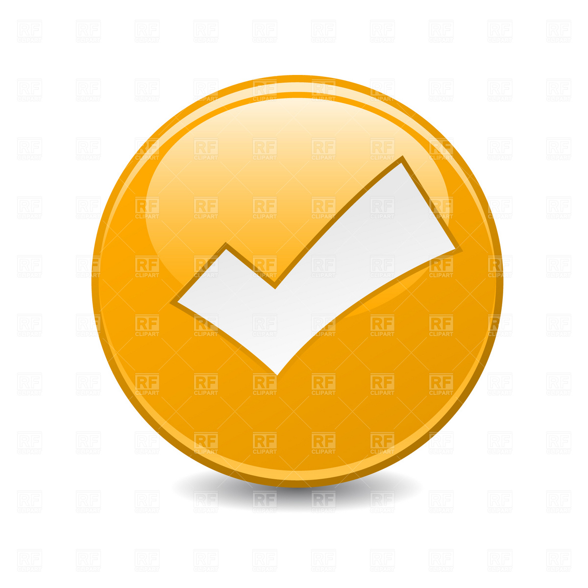 Check mark button Vector Image #1787.
