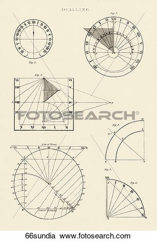 Stock Illustrations of Antique Diagram (copper engraving) of.