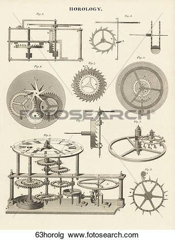 Clip Art of Antique Scientific Illustration (copper engraving.