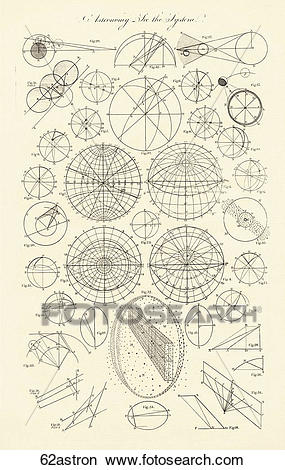 Drawings of Various Antique Diagrams (copper engraving) of.