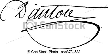 Vector Illustration of Signature of Georges Jacques Danton (1759.