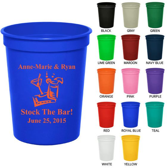 16 oz Personalized Plastic Cups (Clipart 1794) Stock the Bar.