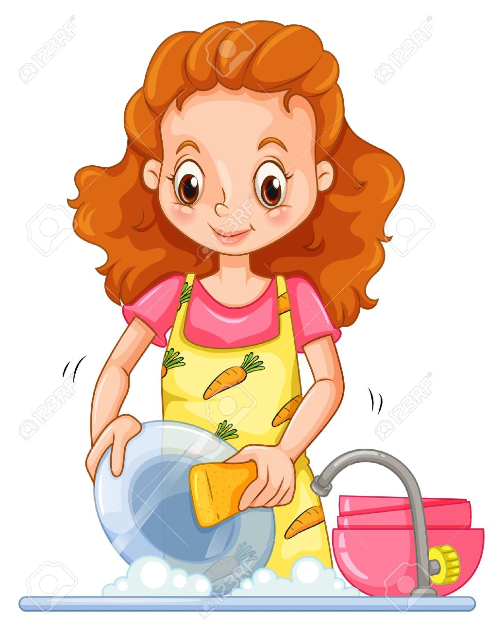 1,794 Washing Dishes Stock Vector Illustration And Royalty Free.