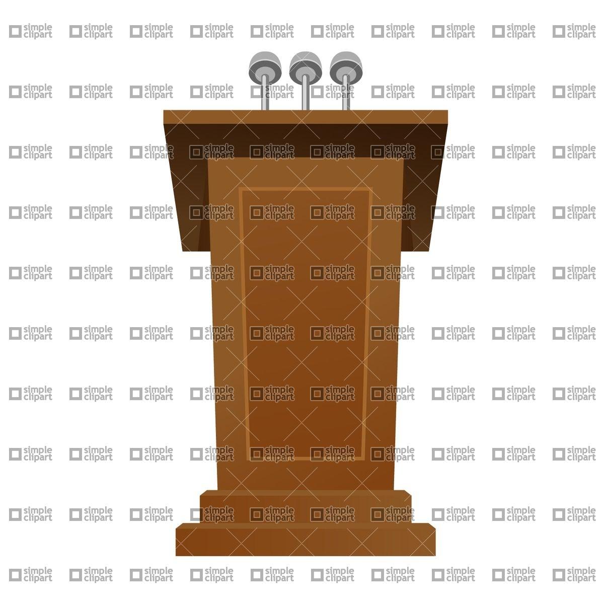 Speech desk Vector Image #1794.