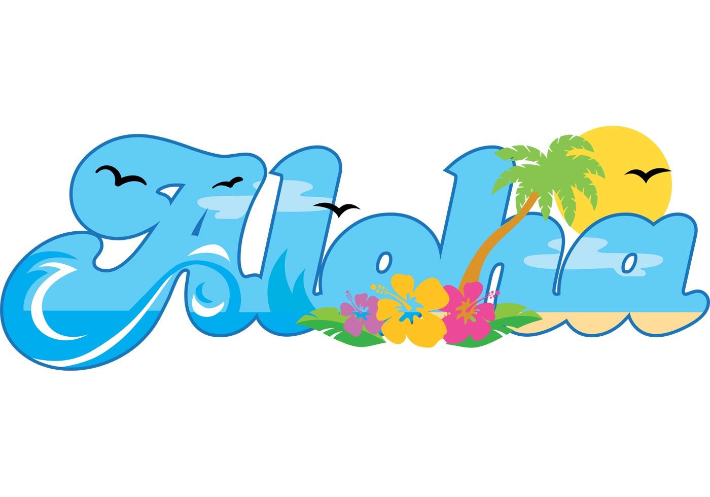 Aloha Word Clipart.