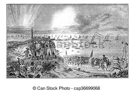 Stock Illustration of Napoleon Bonaparte at Egypt campaign 1798.