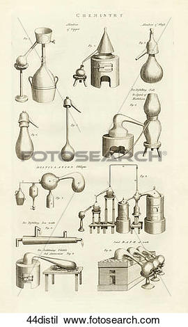 Drawing of Antique Scientific Illustration (copper engraving.