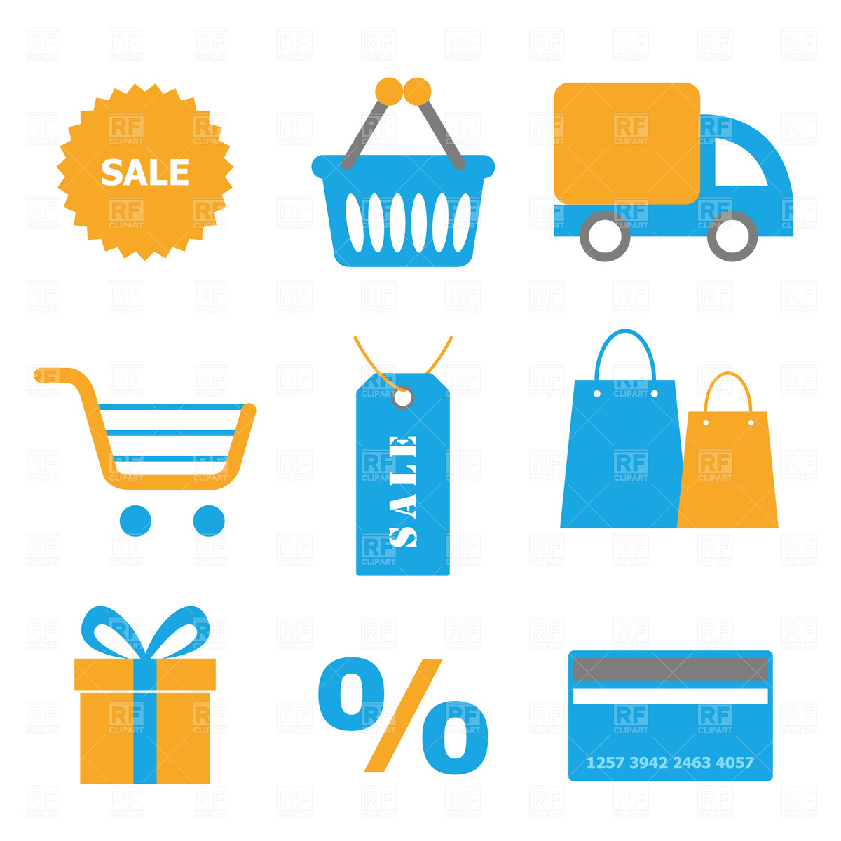 Shopping icons Vector Image #1798.