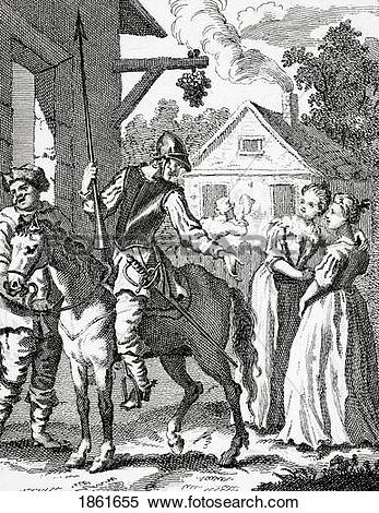 Stock Image of Don Quixote And Sancho Panza By William Hogarth.