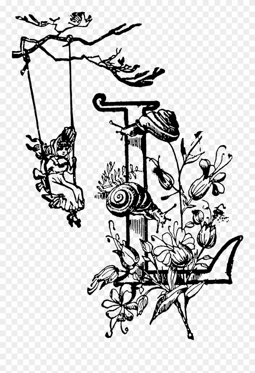 1798 Initial Free Vintage Clip Art➢ Download Images.