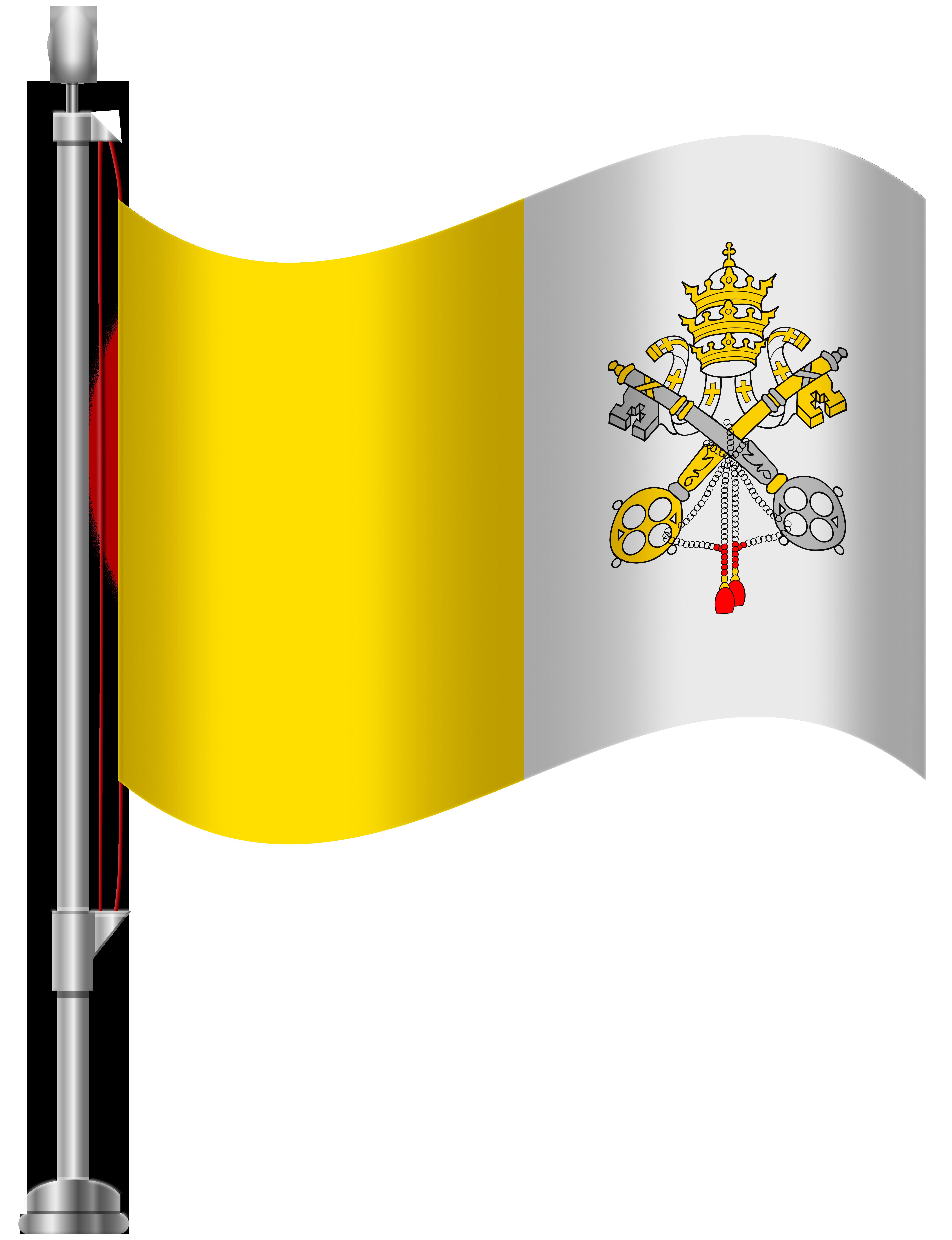 Vatican City Flag PNG Clip Art.