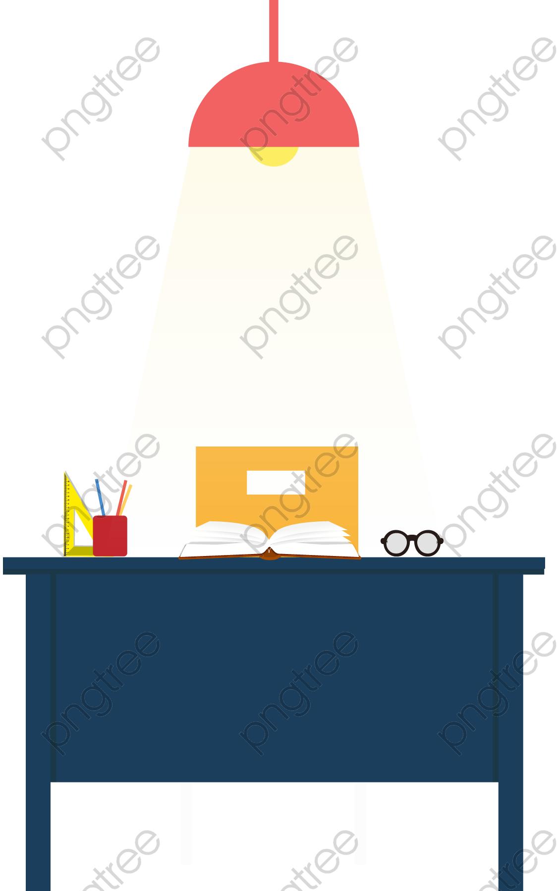 Transparent flat teacher desk PNG Format Image With Size 1124*1798.