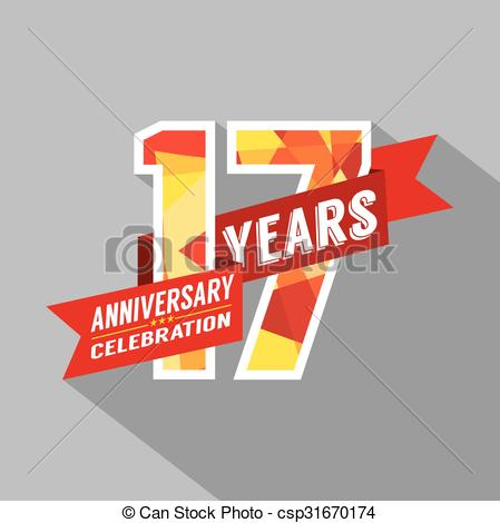 17th anniversary Vector Clipart EPS Images. 67 17th.