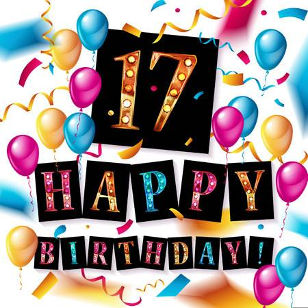17th Birthday Cliparts, Stock Vector And Royalty Free 17th Birthday.