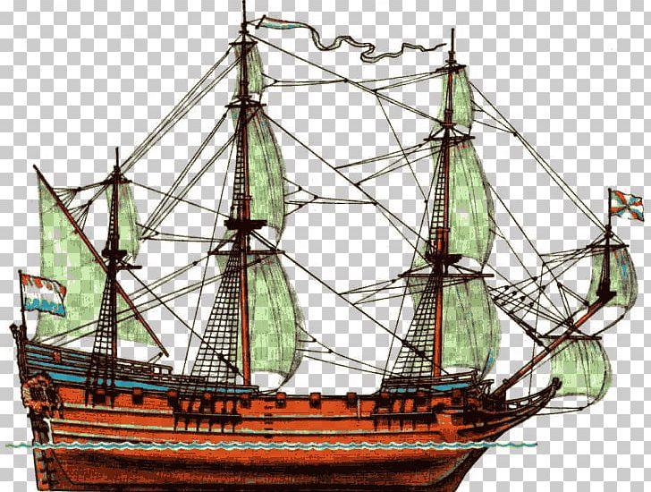 История корабля 17th Century Frigate Ship Of The Line PNG.