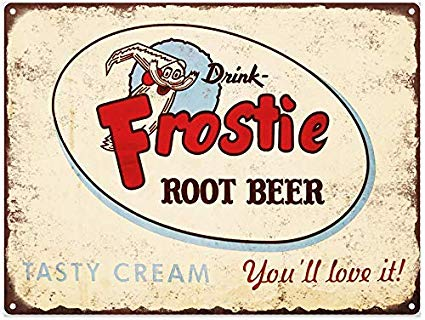 Amazon.com: onepicebest Frostie Root Beer Soda Pop Ad Metal.