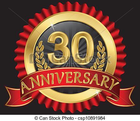 30th Anniversary Clipart.