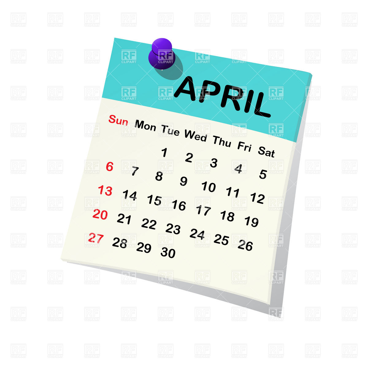 April Calendar Clipart Group (+), HD Clipart.