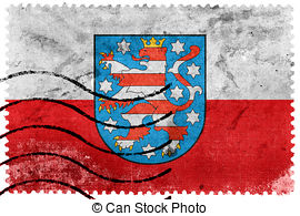 Thuringia flag with coat of arms Illustrations and Clip Art. 18.