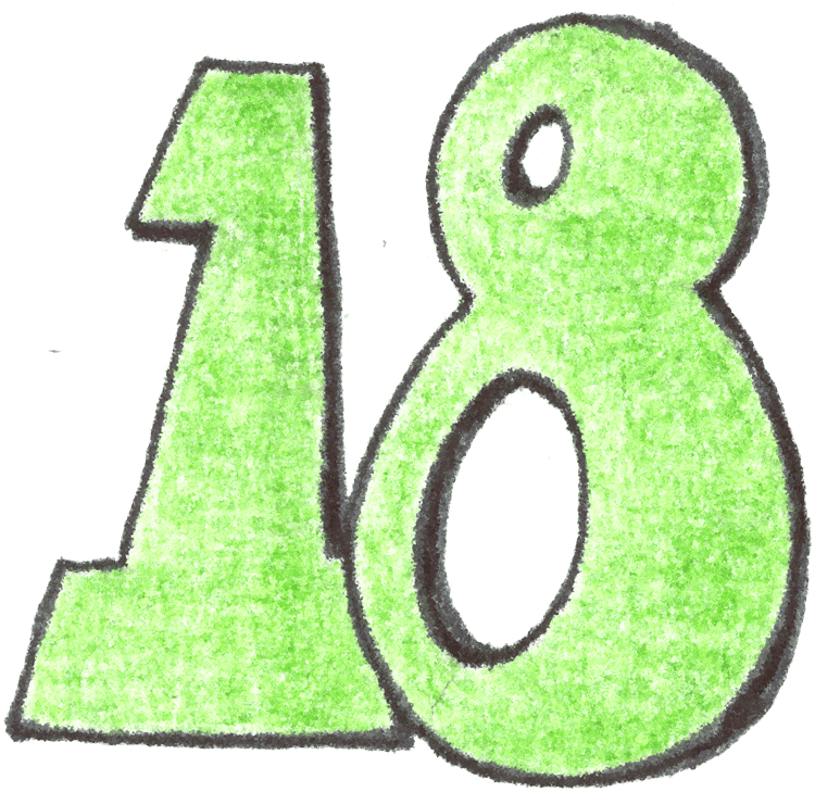 Clip Art Number 18 Clipart.