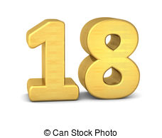 Number 18 Illustrations and Clipart. 685 Number 18 royalty free.