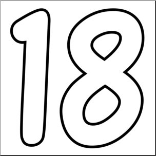 Number 18 clip art clipart images gallery for free download.