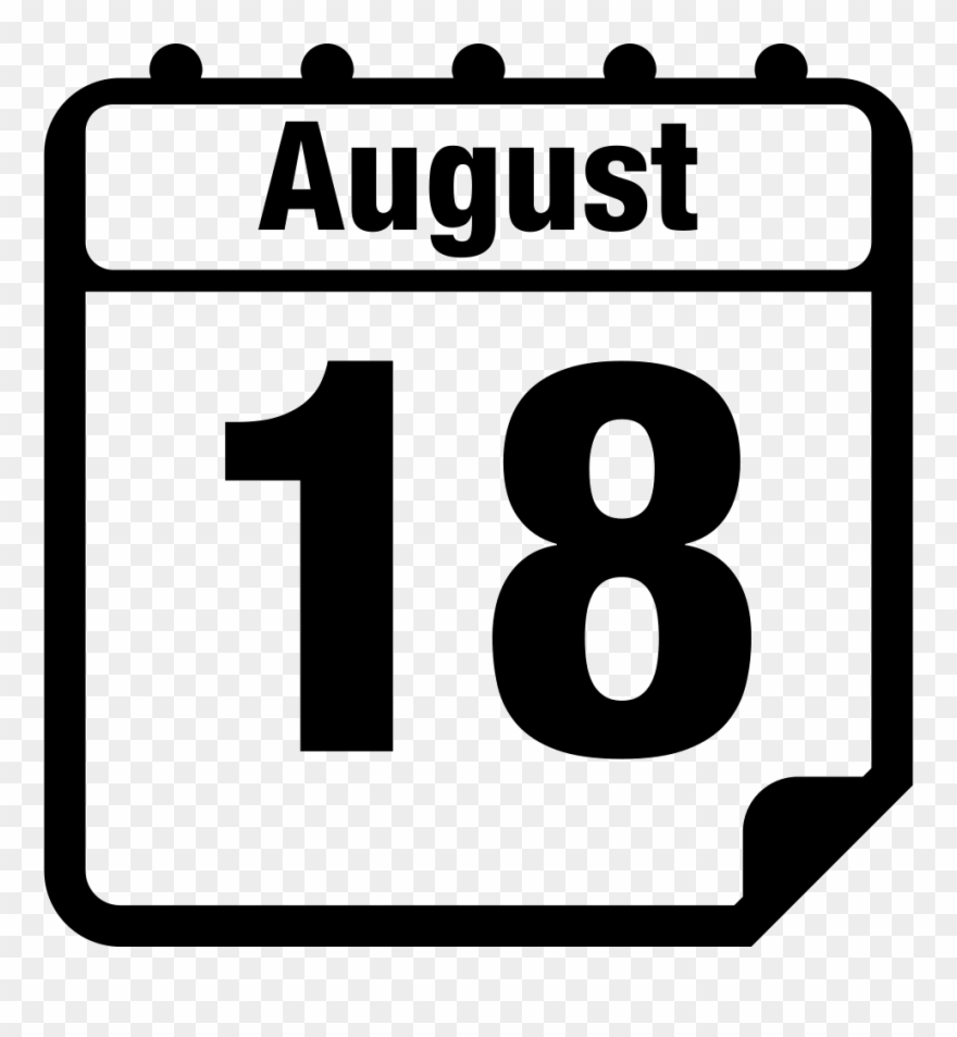 August 18 Daily Calendar Page Interface Symbol Comments.