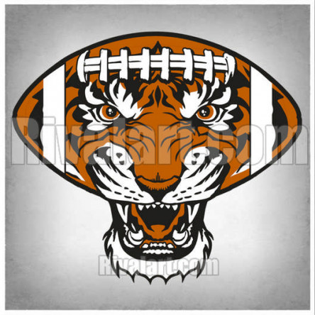 Tiger Football Clipart 18.