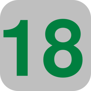 Number 18 Grey Flat Icon Clip Art at Clker.com.