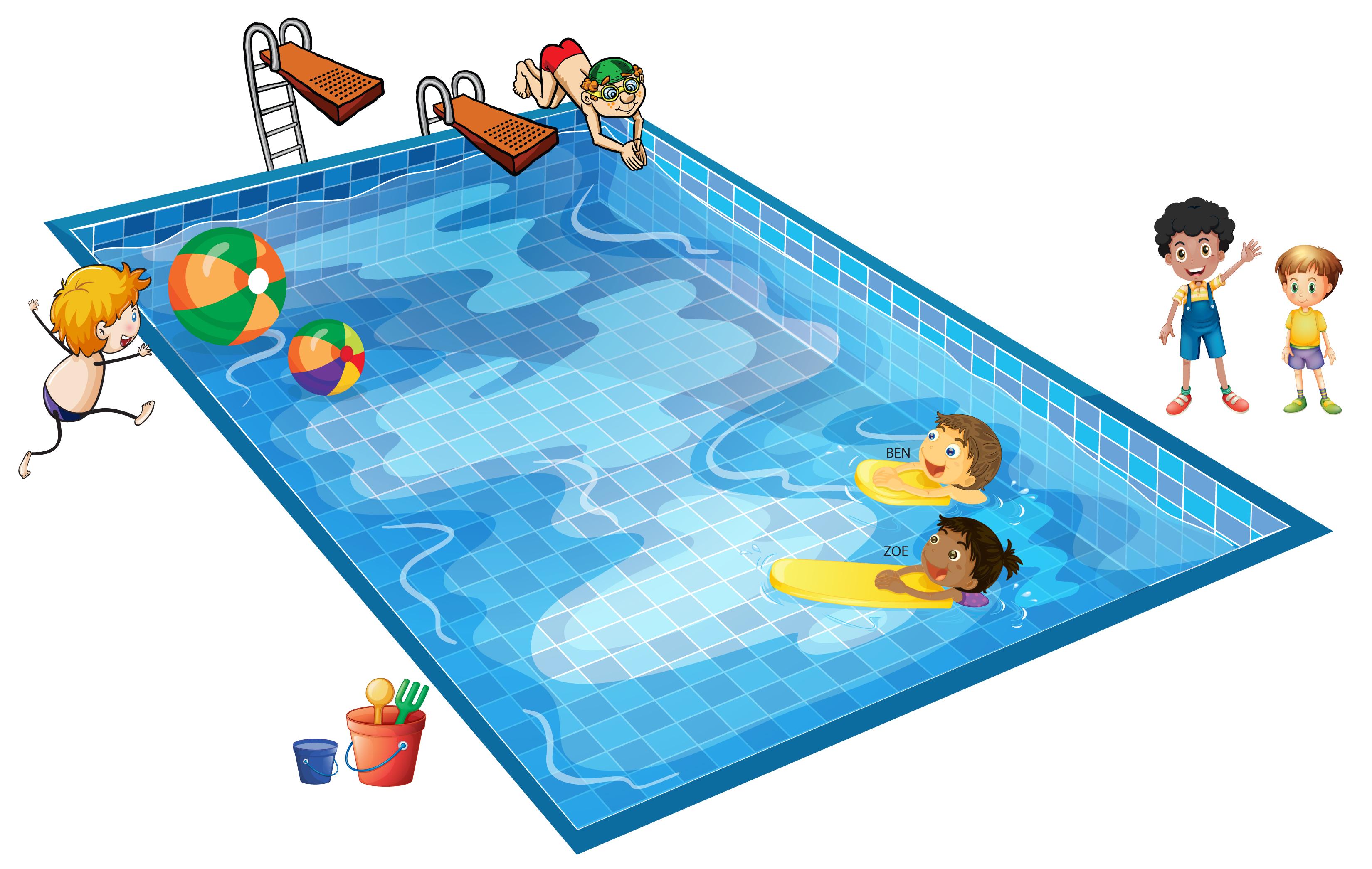 Swim clipart community pool Transparent pictures on F.
