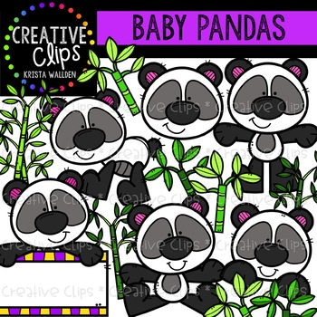 Baby Panda Clipart {Creative Clips Clipart}.