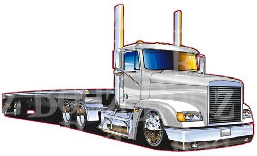 Pin on Semi Truck Drawings.
