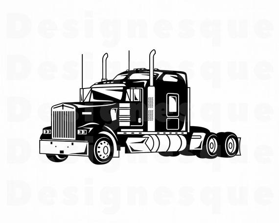Truck #5 SVG, Truck SVG, Trucking Svg, 18 Wheeler, Truck Clipart, Truck  Files for Cricut, Truck Cut Files For Silhouette, Dxf, Png, Vector.