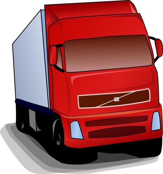 Truck 18 Wheeler clip art Free vector in Open office drawing svg.