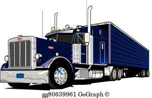 18 Wheeler Clip Art.