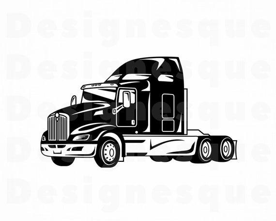Truck Driver #8 SVG, Truck SVG, 18 Wheeler, Trucker, Truck Clipart, Truck  Files for Cricut, Truck Cut Files For Silhouette, Dxf, Png, Vector.