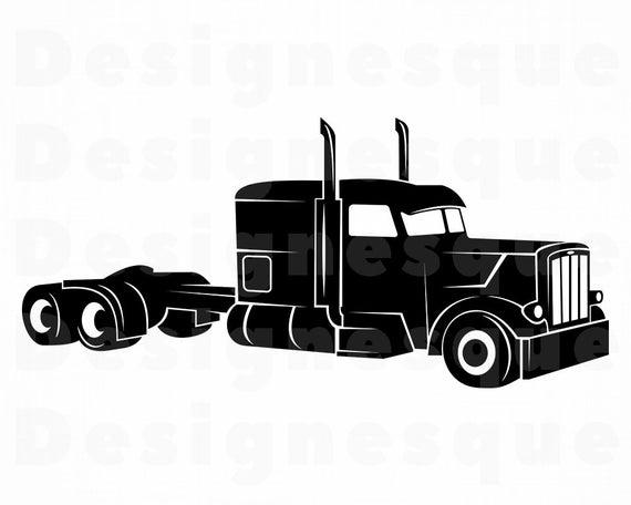 Truck Driver #6 SVG, Truck SVG, 18 Wheeler, Trucker, Truck Clipart, Truck  Files for Cricut, Truck Cut Files For Silhouette, Dxf, Png, Vector.