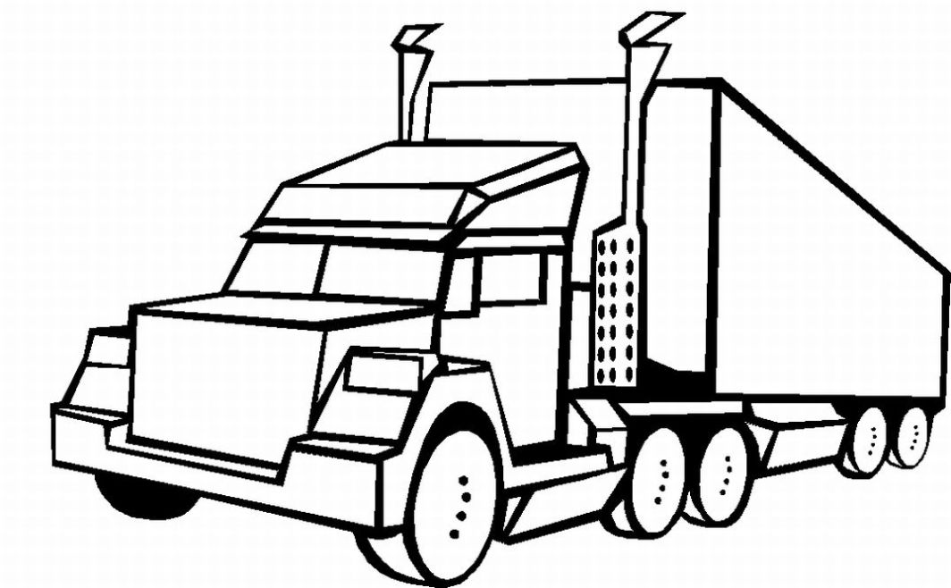 Free 18 Wheeler Clipart Black And White, Download Free Clip.