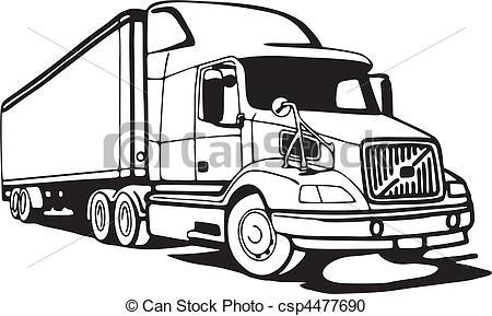 Semi Truck Vector Art at GetDrawings.com.
