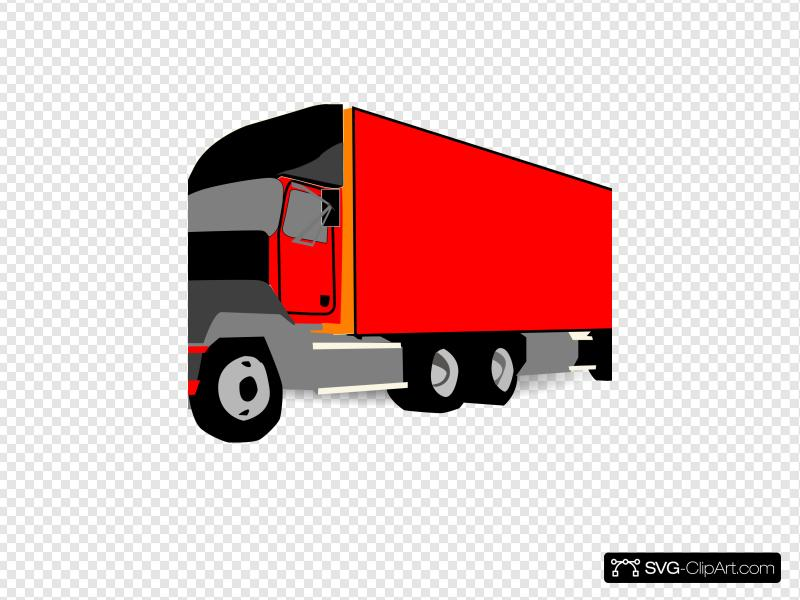 Truck 18 Wheeler Trucker Clip art, Icon and SVG.